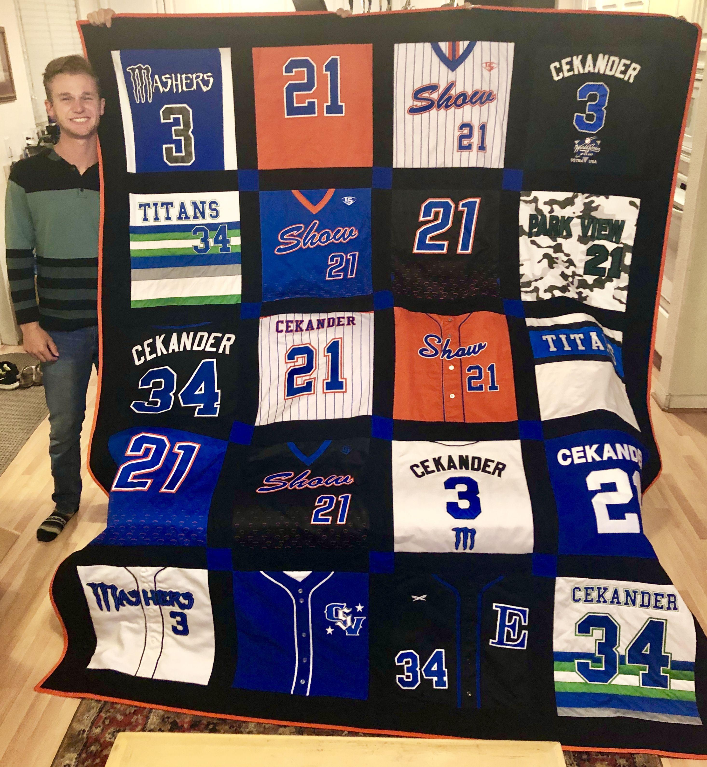 Image result for travel baseball jersey quilt