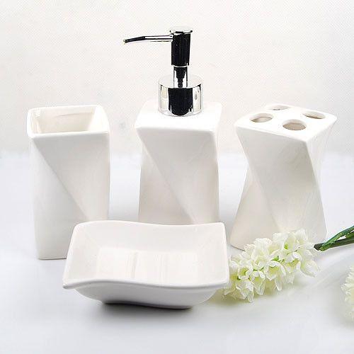 Bathroom Accessories Set White Ceramic  Ideas 20172018 New Bathroom Accessories Sets Review