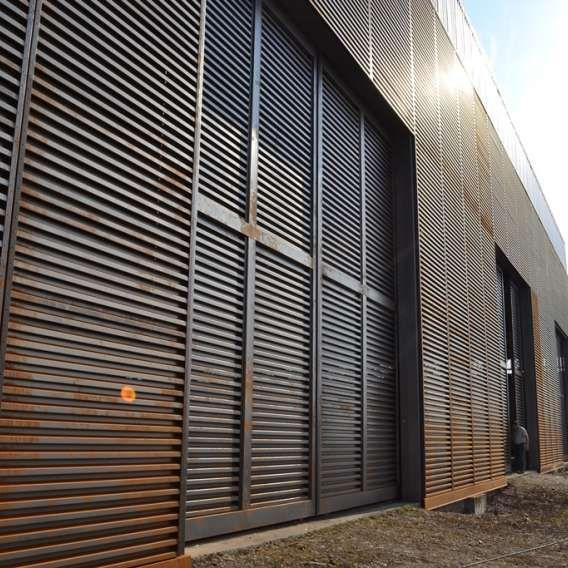 Finned Facade In Corten Corrugated Metal Corrugated Architecture