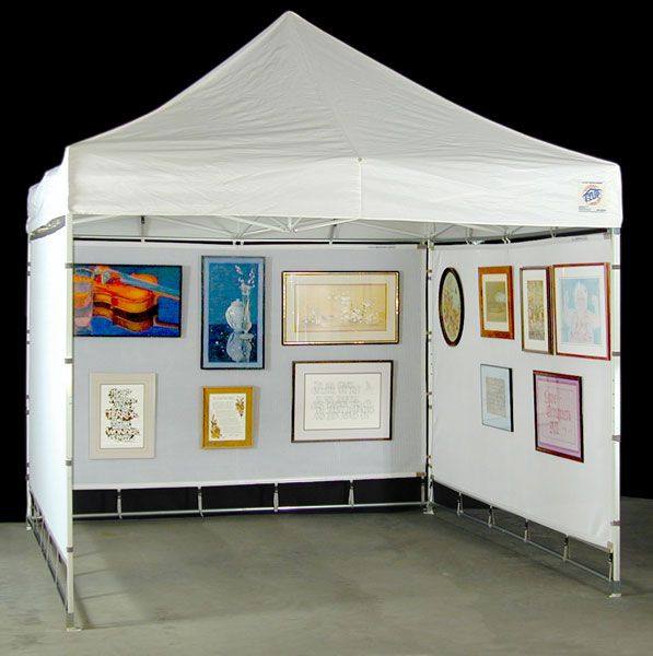 Flourish mesh display panel set shown with e z up express for Display tents for craft fairs