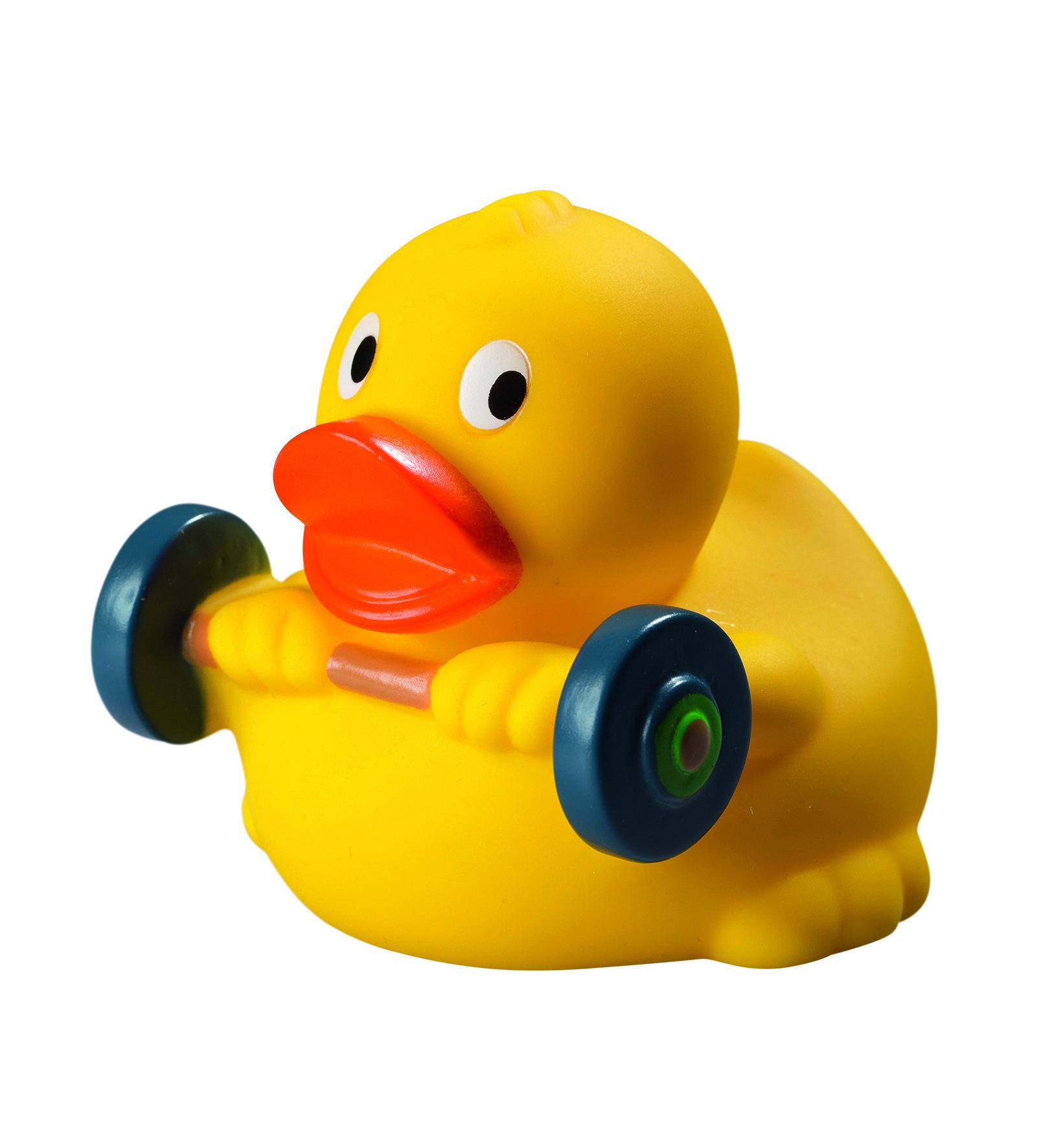 Quietsche Ente Gewichtheber Rubber Duck Rubber Ducky Ducky Duck