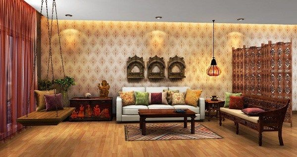 Indian Traditional Living Room Interior Design