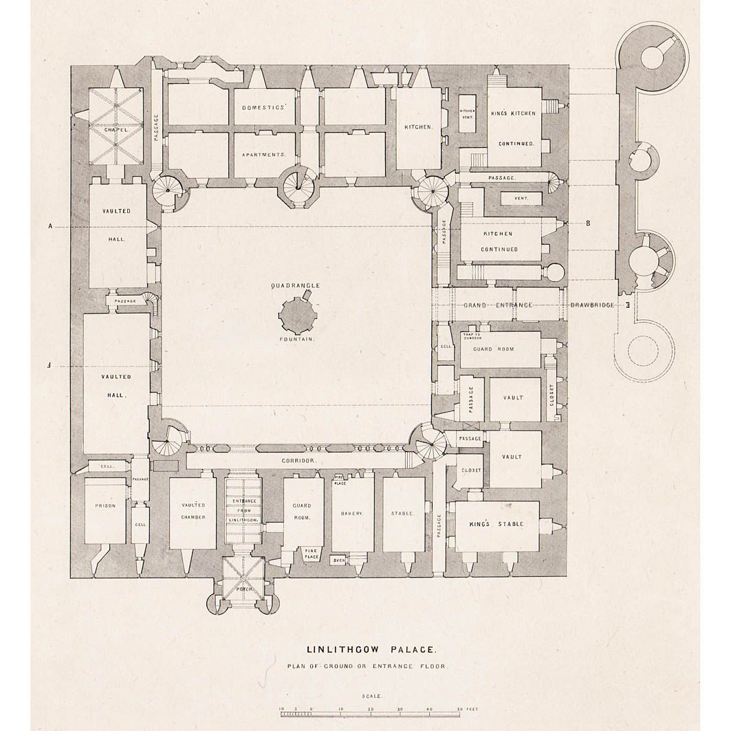 Linlithgow Palace Ground Floor Plan Britton Images Ground Floor Plan Floor Plans House Floor Plans