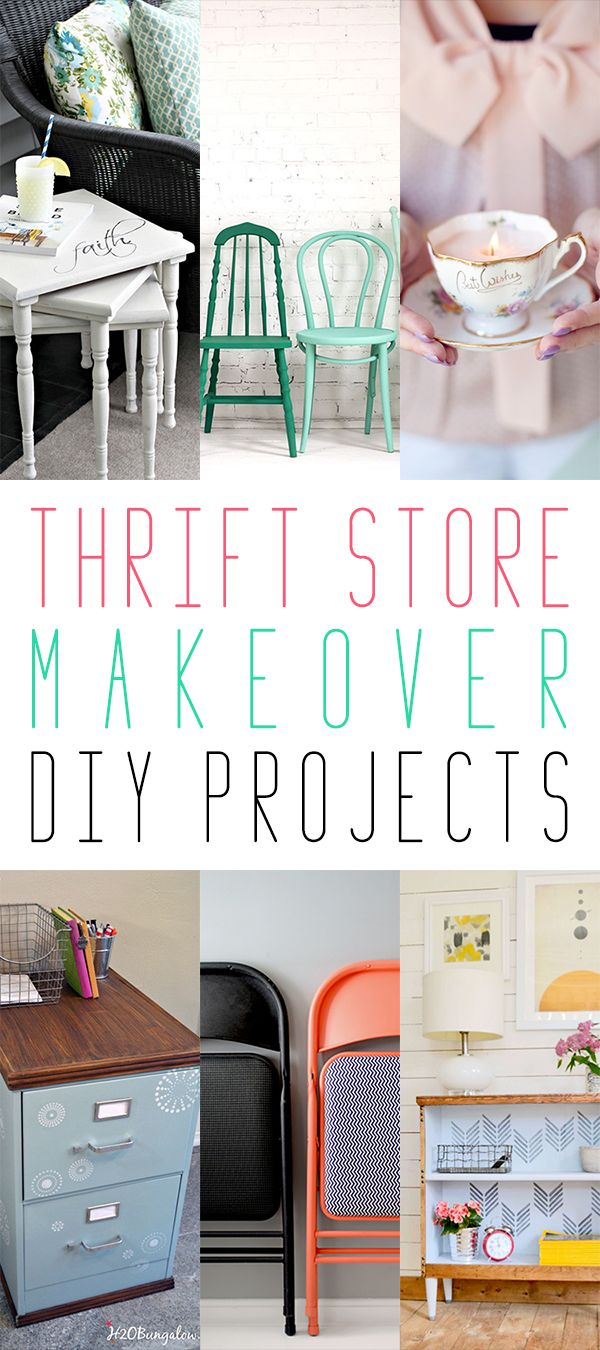 Thrift Store Makeover DIY Projects   Thrift store crafts ...