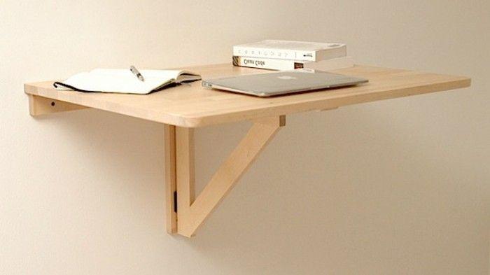 bureau pliable ikea en bois meuble ordinateur pliable mural en bois clair