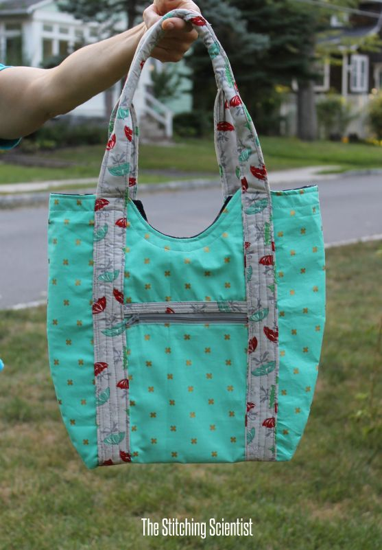 Vera Tote Bag Pattern   The Stitching Scientist   Sewing--part 20--a ...