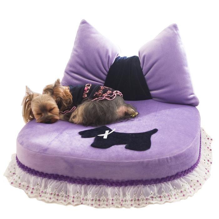 Purple Pillow Princess Bed | Princess dog bed Dog bed ...
