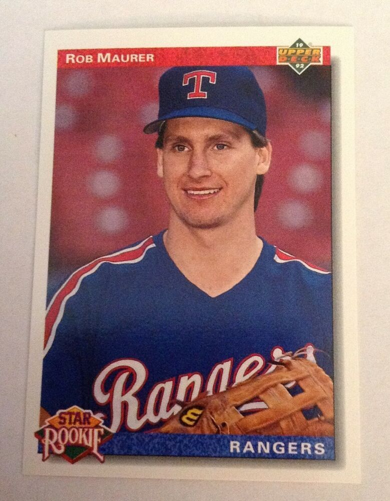 1992 upper deck star rookie rangers rob maurer 10