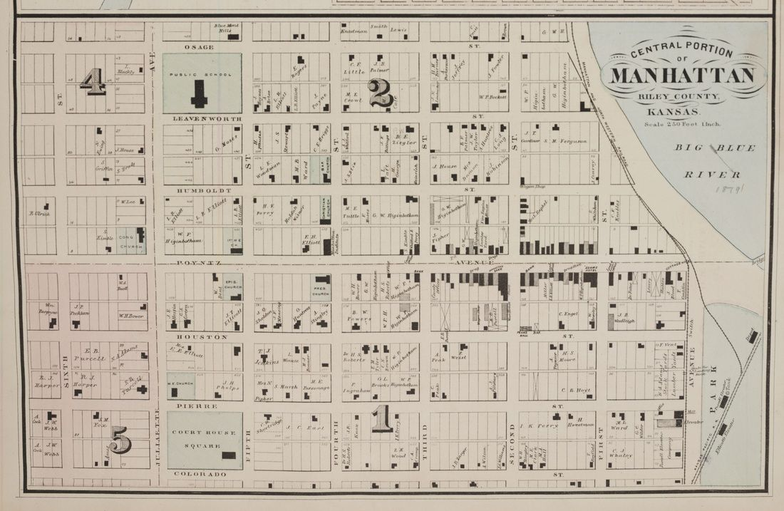 Map Of Manhattan Kansas.Historical Map Of Manhattan Ks Manhattan Kansas Manhattan Map