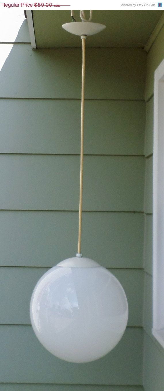 SALE Vintage Light Fixture Large 12 Bubble by alsredesignvintage