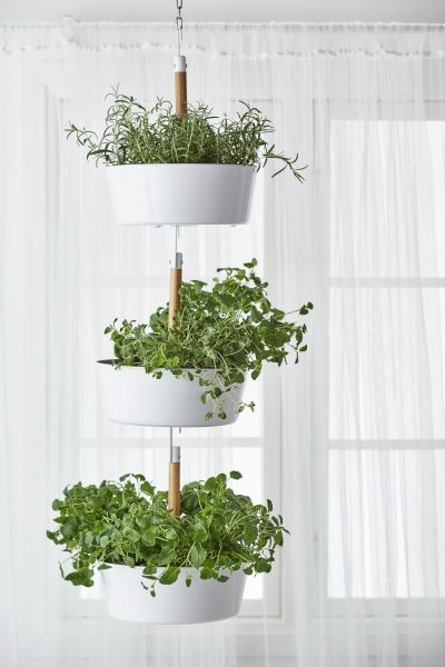 Bittergurka Hanging Planter White Ikea Window Herb Garden Vertical Herb Garden Indoor Herb Garden