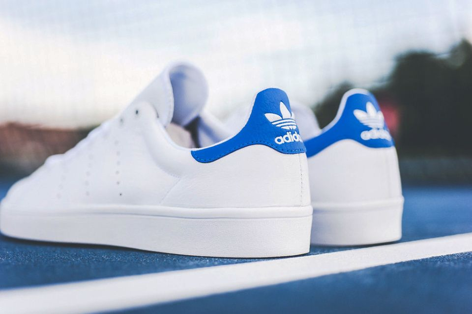 brand new 35b7d 7b819 adidas Stan Smith Vulc White/Royal | VISUAL | Adidas stan ...