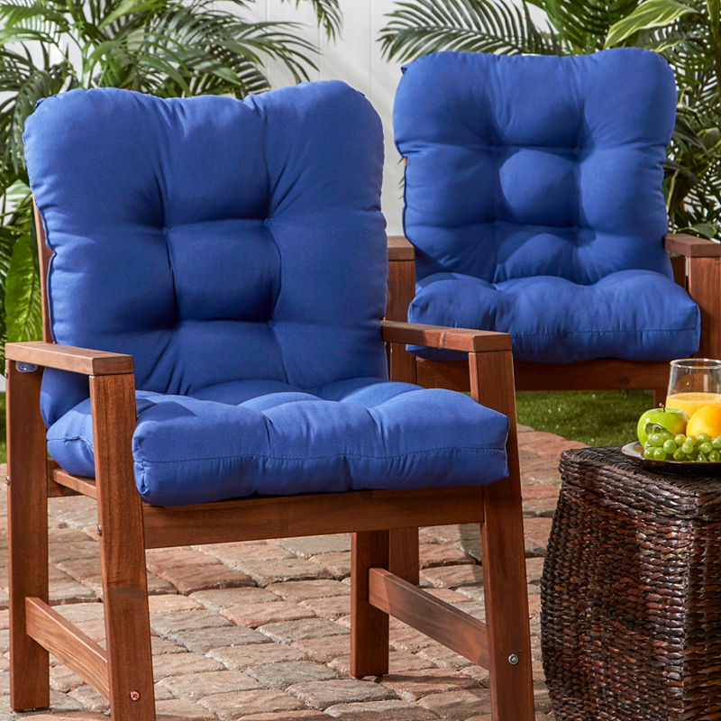 Outdoor Seat Back Chair Cushion Set Of 2 Outdoor Patio Chair Cushions Outdoor Chair Cushions Outdoor Chairs