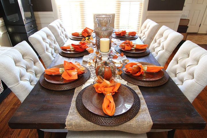 fall centerpieces for dining room table | Fall Dining Room Table | Dining room table centerpieces ...