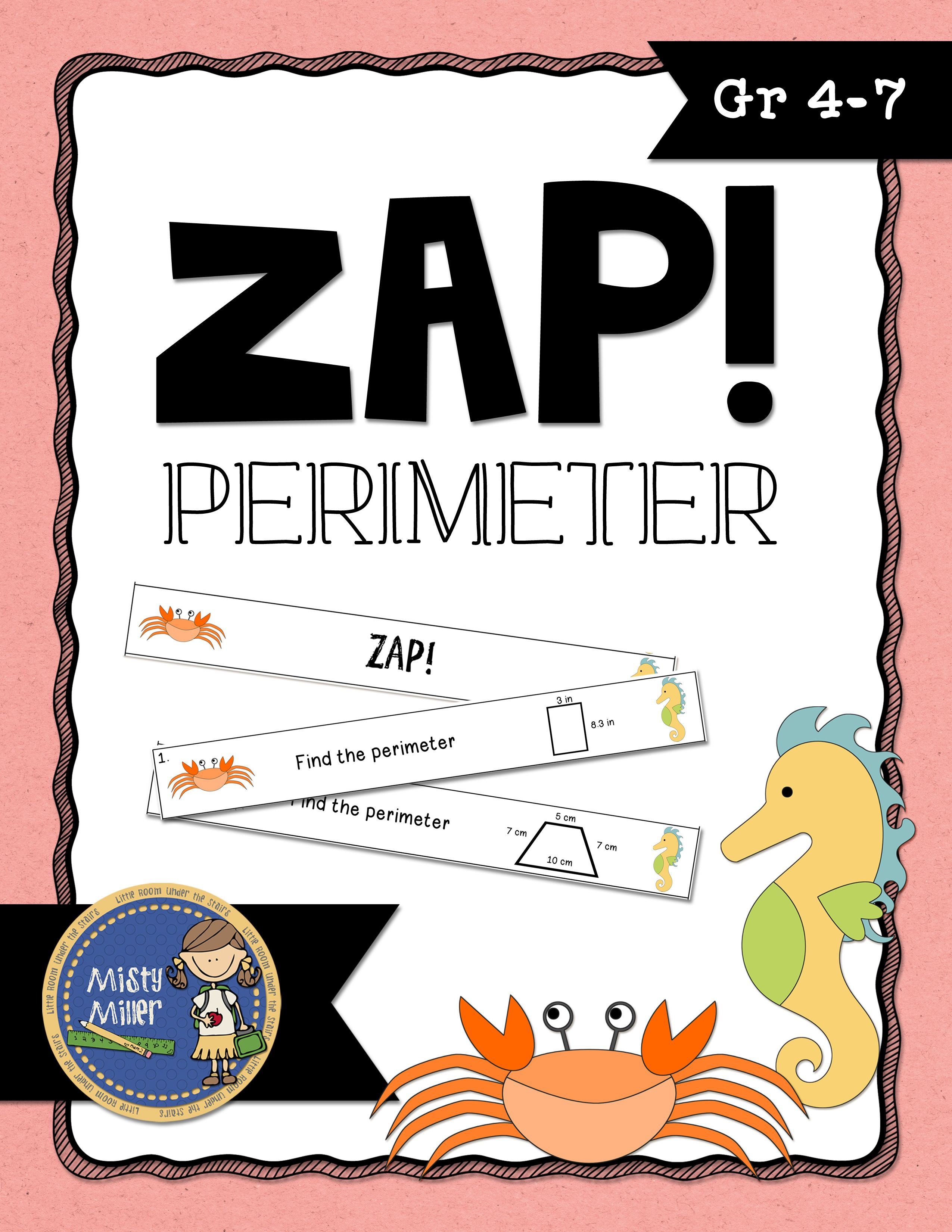 Perimeter Don T Get Zapped Math Game