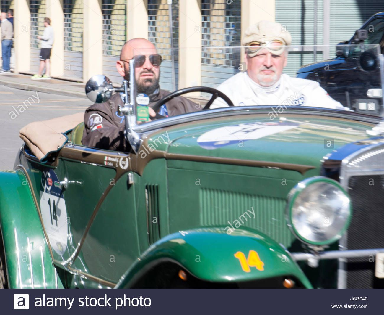 Download this stock image: Cremona Checkpoint, Italy. 21st May, 2017. Millemiglia Historical Classic Car Rally - May 21 st 2017 - Cremona Checkpoint, Italy Credit: Augusto Colombo - ITALIA-/Alamy Live News - J6G040 from Alamy's library of millions of high resolution stock photos, illustrations and vectors.