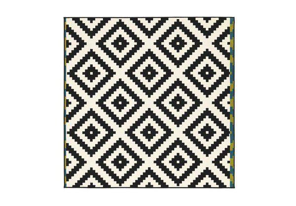 tapis ikea tapis graphique noir et