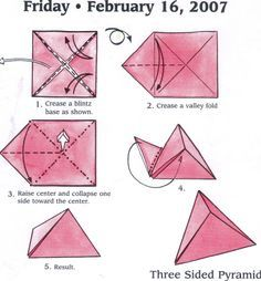 Googleit Searchqorigami Box Triangle Diagram