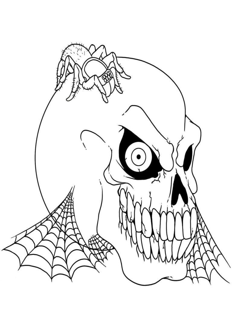 30 Disegni Spaventosi di Halloween da Colorare Dibujos