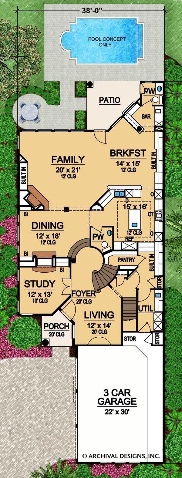 Rhodes Ranch Deux House Plan Mediterranean House Plans Mountain House Plans House Plans