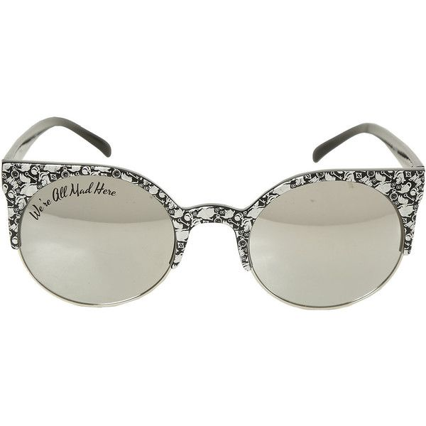 561d4bac2d1c7 Disney Alice In Wonderland Filigree Round Sunglasses Hot Topic ( 15) ❤ liked  on Polyvore featuring accessories