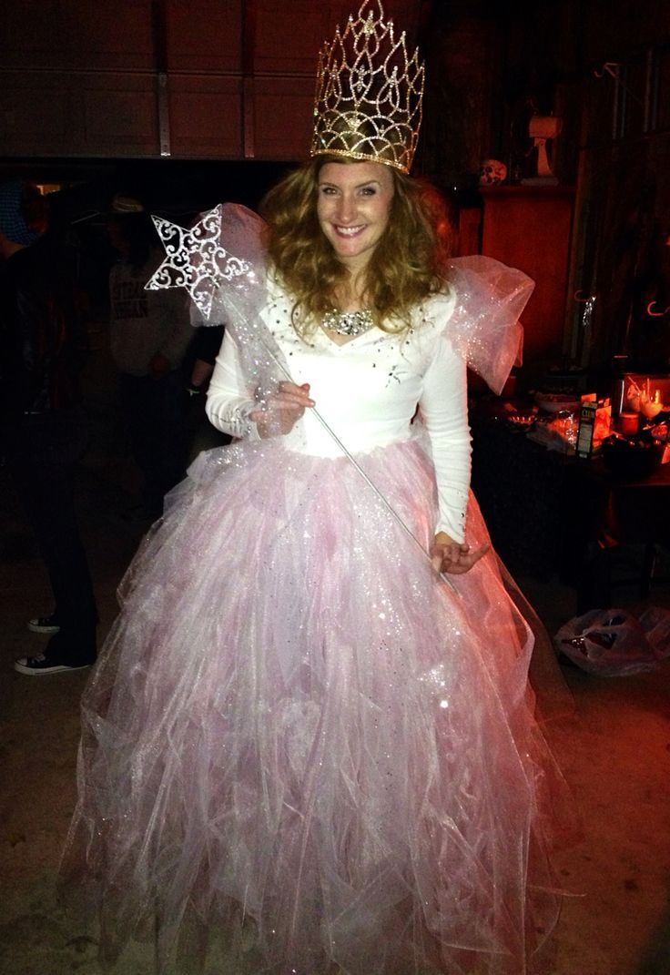 DIY  Glinda The Good Witch  Costume!!! #diy #costume #halloween  sc 1 st  Pinterest & DIY