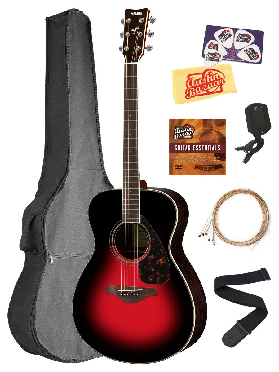 Yamaha Fs830 Solid Top Small Body Acoustic Guitar Dusk Sun Red W Gig Bag 660845711761 Ebay Acoustic Guitar Guitar Acoustic Guitar Accessories