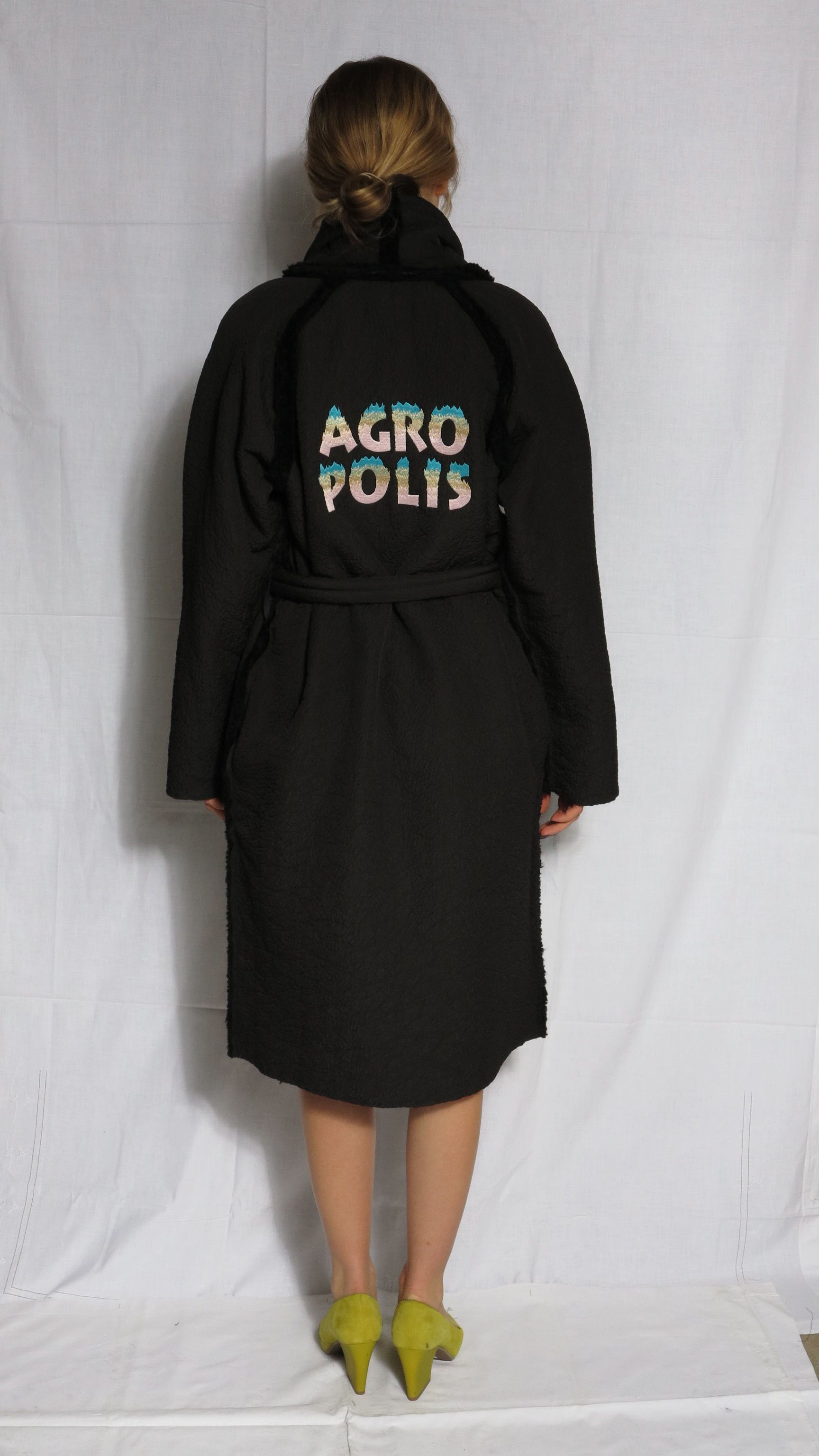 AGROPOLIS coat with embroidery