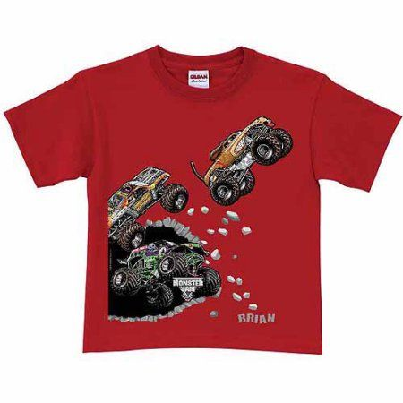 Personalized Monster Jam Breakout Boys' T-Shirt, Red, Size: 2/4