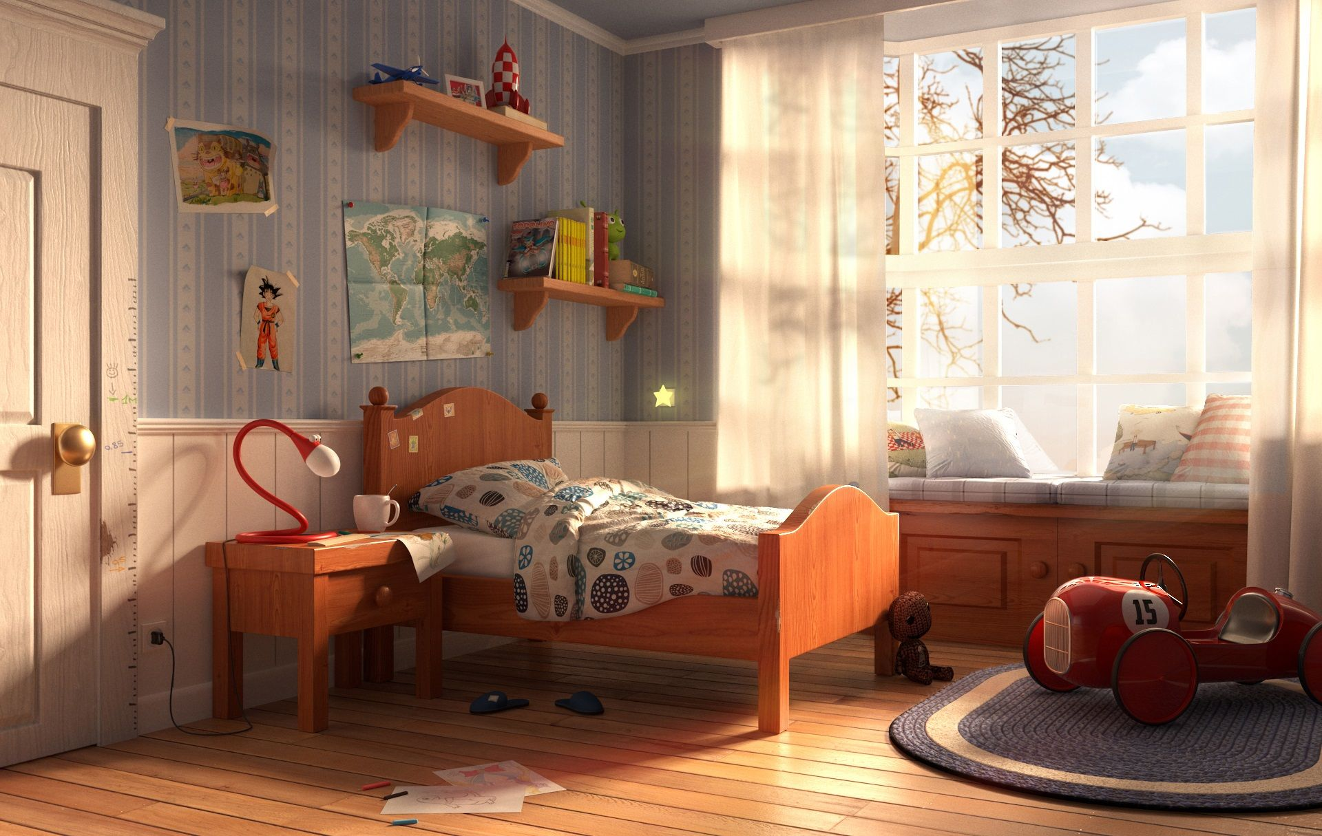 Autumn afternoon by Enrico Zerbo Cartoon 3D