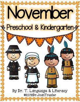 NOVEMBER is for Preschoolers (PreK & Kindergarten ...