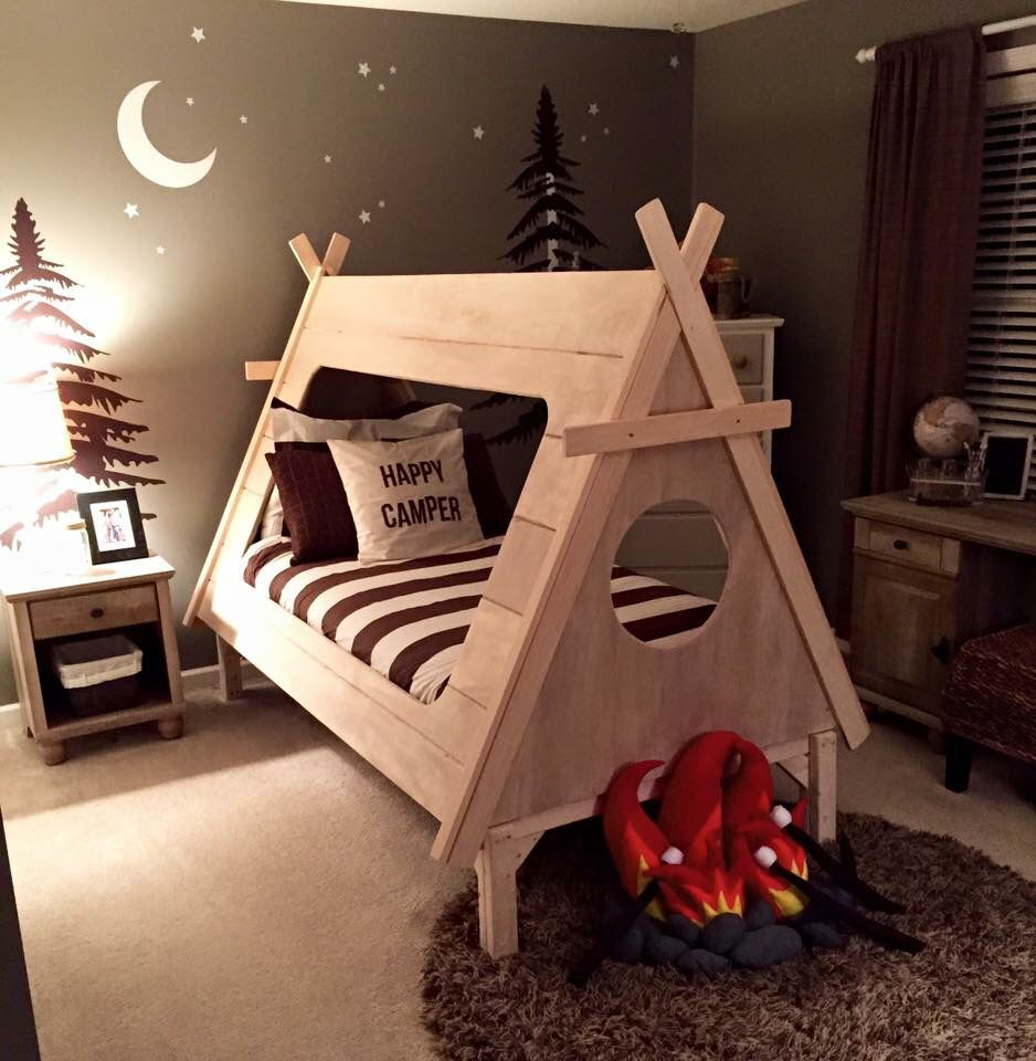Pin By Kaite Morris On Dream Home Camping Theme Bedroom Toddler Boy Room Themes Camping Room