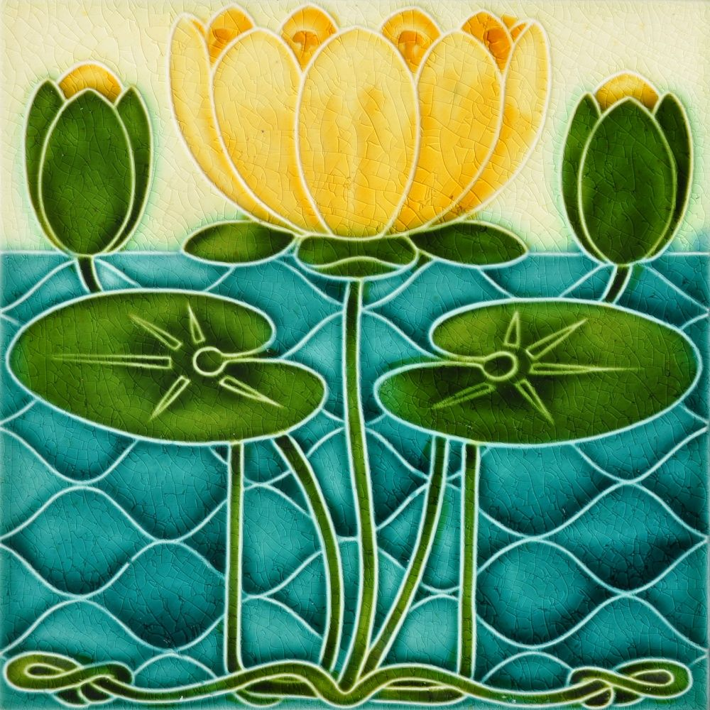 Decorative Wall Tile Art Pilkington C1902  Art Nouveau Tiles  Art Nouveau Teëls