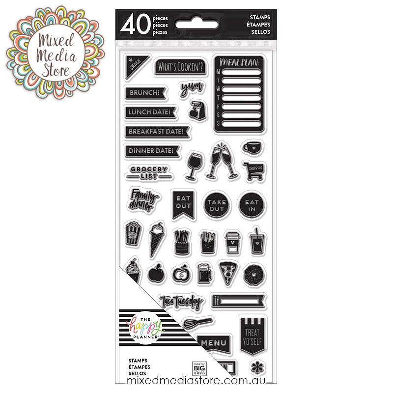 These Create 365 Planner Stamps Dates by MAMBI are clear
