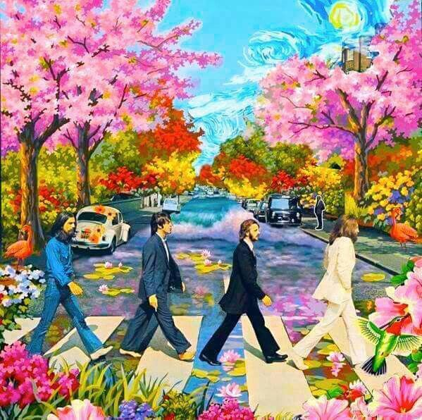 Fab 60s Artwork: American Hippie Art ☮ The Beatles ... Abby Road …