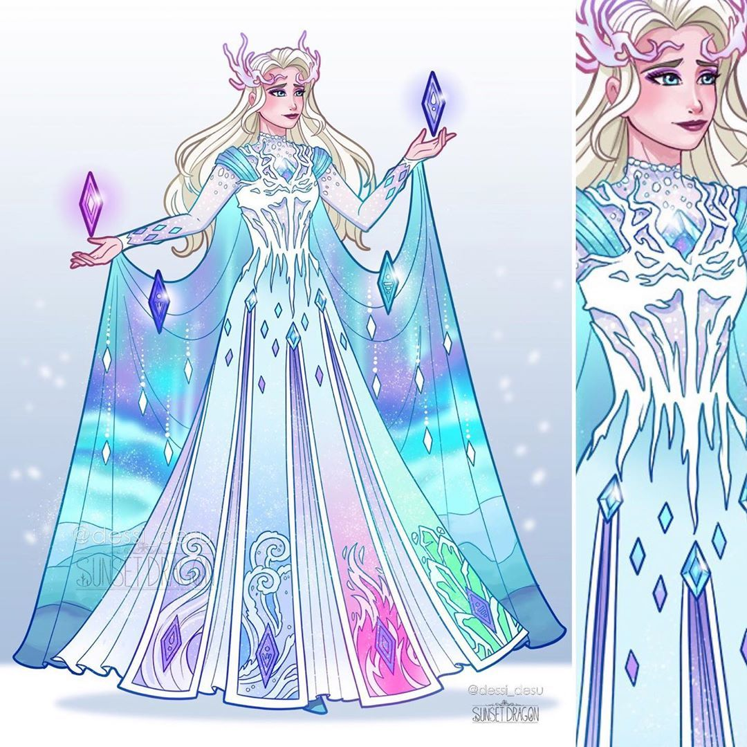 Sunset Dragon On Instagram Fifth Spirit Elsa Another Collab Design With The Talented Dessi Desu Feel Free Nel 2020 Tecniche Di Disegno Sfondi Sfondi Per Telefono