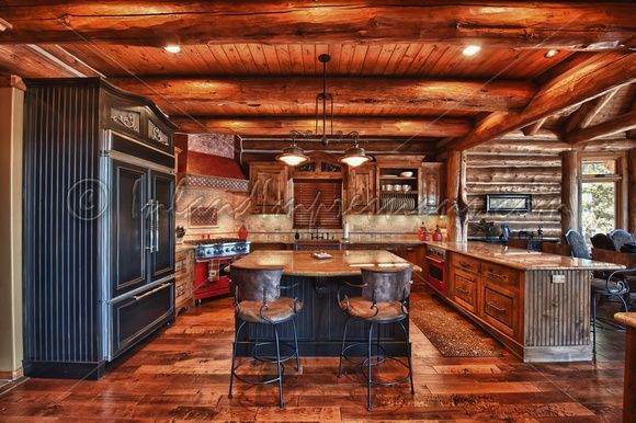 Log house interior pictures inland impressions Log homes interiors