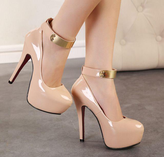 ee4068d1c Sapatos femininos сальто альт женская туфли на высоком каблуке туфли  женщина тонкие каблуки 14 см крест женская scarpin…