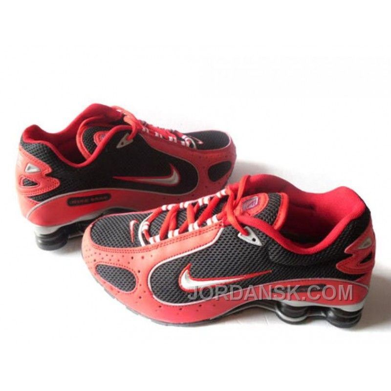 Men's Nike Shox Monster Shoes Red/Black/Silver For Sale