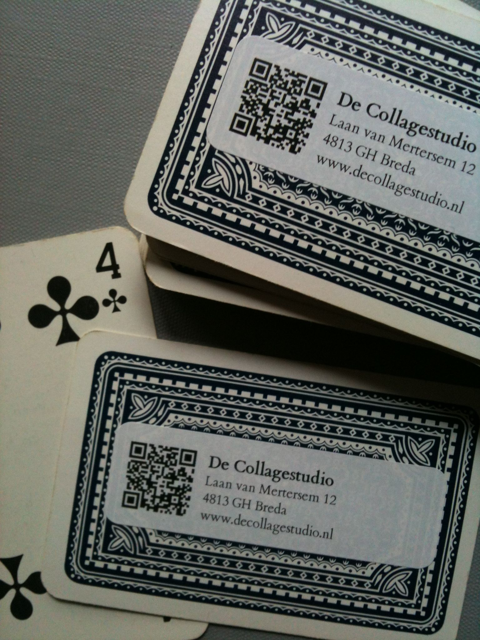 turn old playing cards into business cards recycling