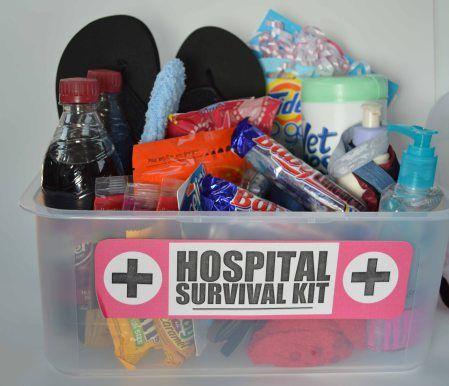 Cute! / Baby shower gift / Hospital Survival Kit