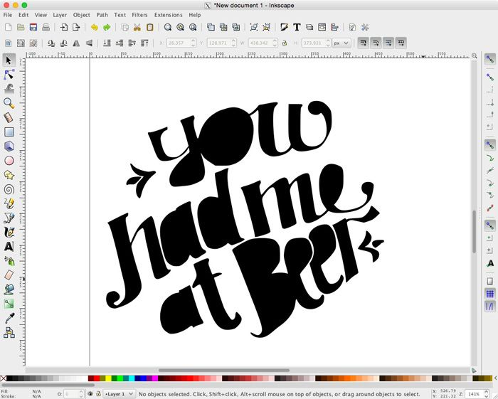 How to vectorize hand lettering without Photoshop, Illustrator, or a