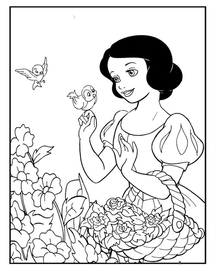 Printable Snow White Coloring Pages - Princess Coloring Pages ...