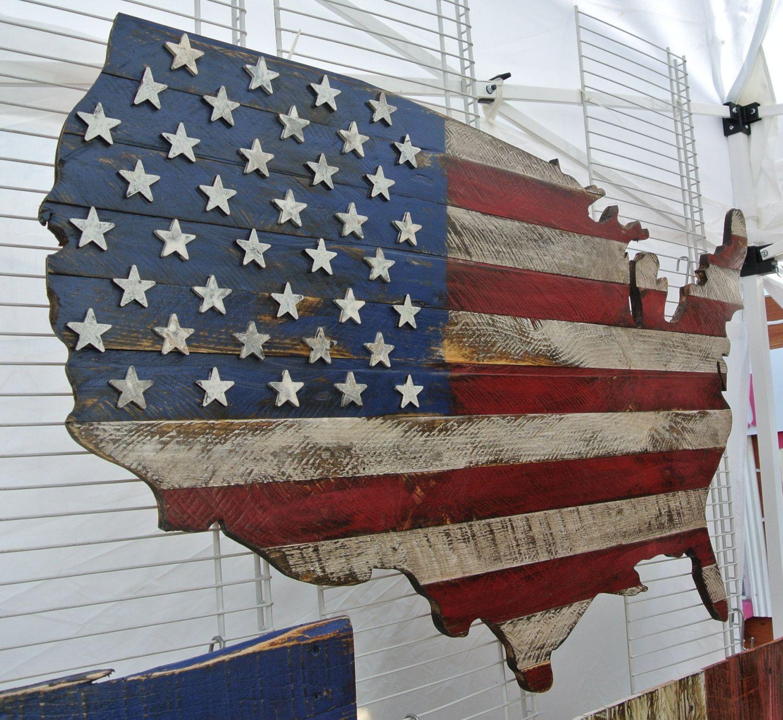 D USA Flag On US Map Original Unique Art Patriotic Memorial - Current red blue us map