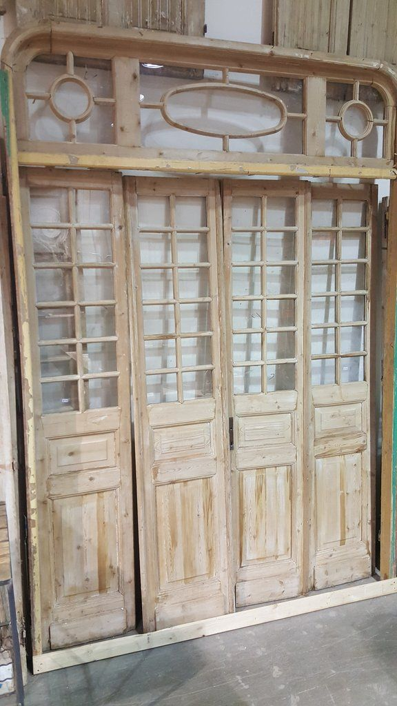 Set Of 4 French Doors With Transom In Frame Yard Ideas Pinterest