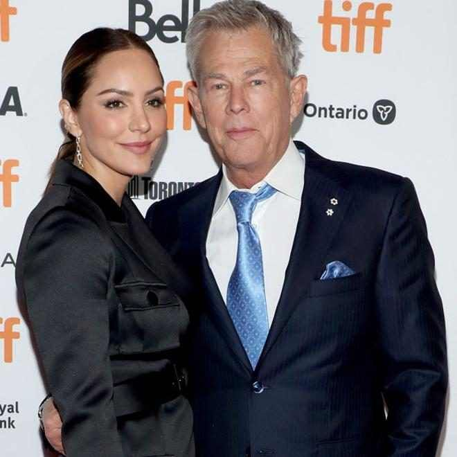 Katharine Mcphee David Foster Hit First Red Carpet As Husband Wife The Fosters Katharine Mcphee Michael Buble