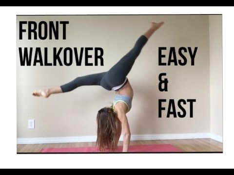 how to do a front walkover simple fast and easy