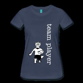 Player Shirt für starke Frauen.  Fußballzeit.