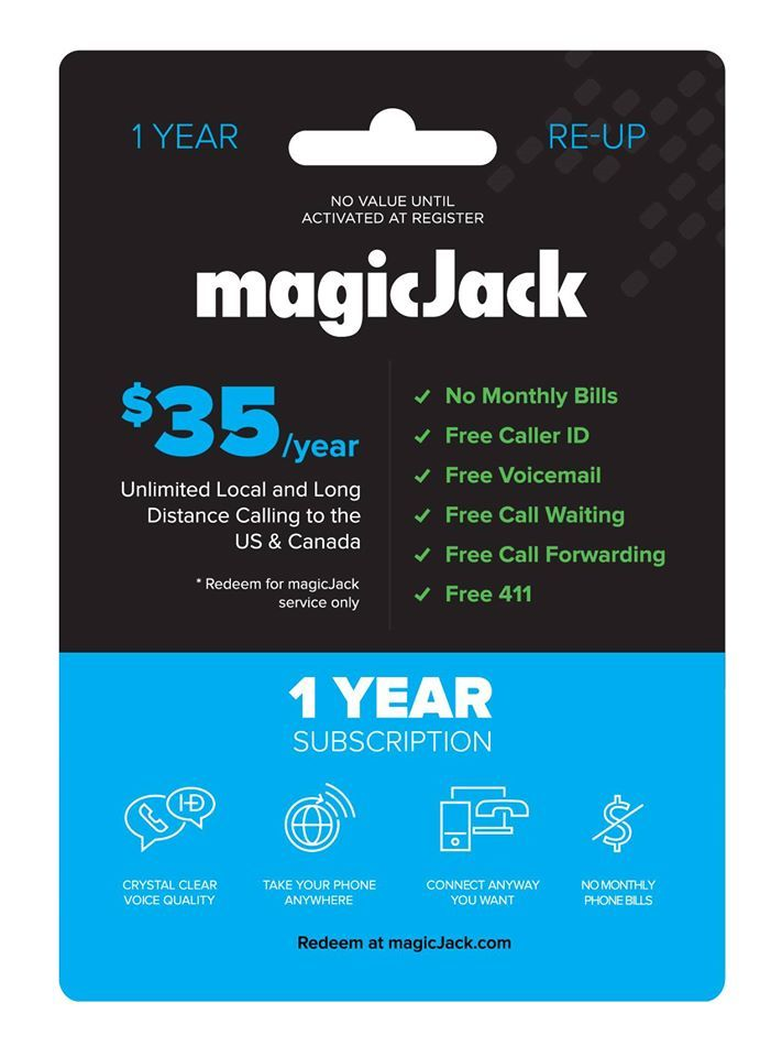 Did you know you dont need a credit card to re up your magicjack visit your local walmart store to purchase magicjack re up cards then go online to keep your account active reheart Images