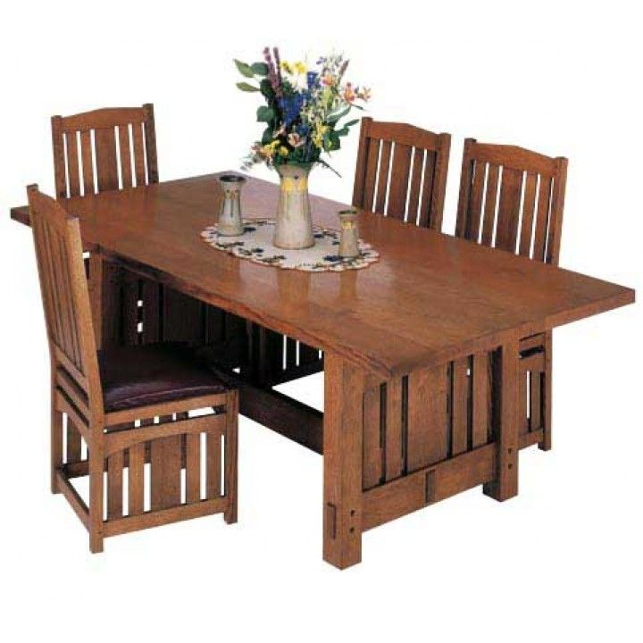 Stickley Inspired Dining Table Downloadable Plan Diy Dining Room